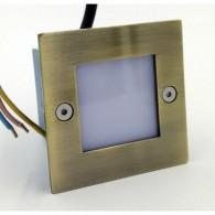 Подсветка для ступеней светодиодная Светкомплект G03202 71*71мм IP54 Бронза (теплый белый)