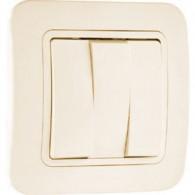 Выключатель 3-клавишный Makel Lilium крем 70291
