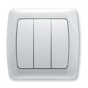 Выключатель 3-клавишный Viko Carmen белый 90561068