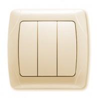 Выключатель 3-клавишный Viko Carmen крем 90562068