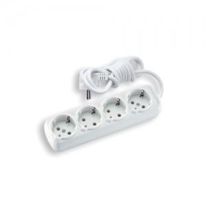 Удлинитель 4 гнезда с заземлением, с кабелем 2 м Viko Leylak 90108000