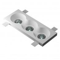 Врезной гипсовый светильник Декоратор VS-025 330*130 мм 3*GU5.3 MR16