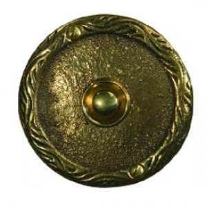 Кнопка звонка Zamel медь (круглая табличка) PDM-231