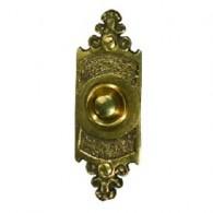 Кнопка звонка Zamel медь (овальная табличка) PDM-232