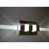 Cветильник светодиодный накладной Flesi 2*3W 220V 135*190*100 мм Stream-D-led CW белый холодный Stream-D-led CW