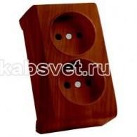 Розетка накладная 2 гнезда Viko Vera махагон 90682255