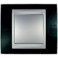 Рамка 1-ая горизонтальная Unica Top родий-алюминий MGU66.002.093