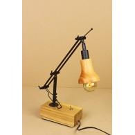 Настольная лампа в стиле Лофт LOFT HOUSE Т-102 кофейный металлик, светлое дерево