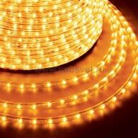 121-121-4 Дюралайт LED фиксинг (2W) - ЖЕЛТЫЙ Эконом Ø13мм, 24LED/м, модуль 2м (без комплекта подключения)