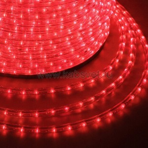 Дюралайт LED, постоянное свечение (2W) - красный Эконом 24 LED/м, бухта 100м 121-122-4