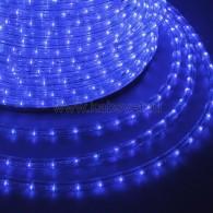 121-123-6 Дюралайт LED фиксинг (2W) - СИНИЙ Ø13мм, 30LED/м, модуль 2м