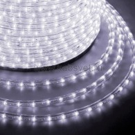 121-125-4 Дюралайт LED фиксинг (2W) - БЕЛЫЙ Эконом Ø13мм, 24LED/м, модуль 2м (без комплекта подключения)
