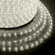 121-256-4 Дюралайт LED мерцающий (2W) - ТЕПЛЫЙ БЕЛЫЙ Эконом Ø13мм, 24LED/м, модуль 2м (без комплекта подключения)