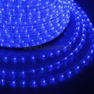 Дюралайт LED, свечение с динамикой (3W) - синий, бухта 100м 121-323