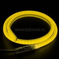 131-071 Гибкий Неон SMD, форма - D (12х12мм), жёлтый, супер яркий (120 LED/м) (без комплекта подключения)