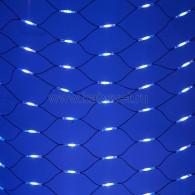 217-123 СЕТЬ 2x3м, черный КАУЧУК, 432 LED БЕЛЫЕ/СИНИЕ, соединяется
