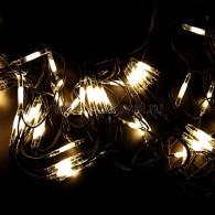 217-126 СЕТЬ 2x3м, черный КАУЧУК, 432 LED ТЕПЛЫЙ БЕЛЫЙ, соединяется