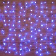 235-023 ДОЖДЬ (занавес) 1,5х1 м, прозрачный ПВХ, 96 LED СИНИЕ IP20, не соединяются