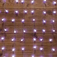 235-045 ДОЖДЬ 1,5*1,5 м, с насадками шарики Ø18мм, прозрачный ПВХ, 144 LED, Белый IP20, не соединяются