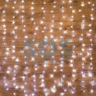 235-065 ДОЖДЬ 2*3 м, прозрачный ПВХ, 240 LED БЕЛЫЙ IP20, не соединяются