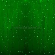 235-104 ДОЖДЬ (занавес) 2х0,8м, прозрачный ПВХ, 160 LED ЗЕЛЕНЫЕ