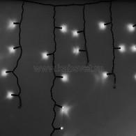 255-032 АЙСИКЛ (бахрома), 2,4 х 0,6 м, черный ПВХ, 88 LED БЕЛЫЕ предлагаем 255-034