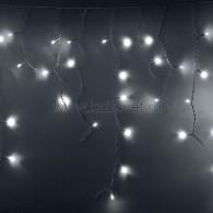 255-034 АЙСИКЛ (бахрома), 2,4 х 0,6 м, белый ПВХ, 88 LED БЕЛЫЕ