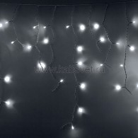 255-034-6 АЙСИКЛ (бахрома), 2,4 х 0,6 м, белый ПВХ, 76 LED БЕЛЫЕ