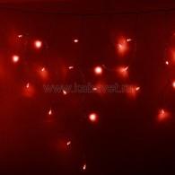 255-052 АЙСИКЛ (бахрома), 2,4 х 0,6 м, прозрачный ПВХ, 88 LED КРАСНЫЕ