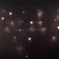 255-056 АЙСИКЛ (бахрома), 2,4 х 0,6 м, прозрачный ПВХ, 88 LED ТЕПЛЫЕ БЕЛЫЕ