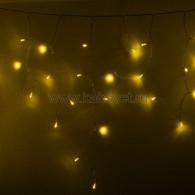 255-141 АЙСИКЛ (бахрома), 4,8 х 0,6 м, прозрачный ПВХ, 176 LED ЖЕЛТЫЕ