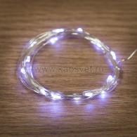 303-005 Роса 2м 20 LED белые (2*CR2032 в комплекте), не соединяется ТОП