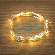 303-006-1 Гирлянда «Роса» 2 м, 20 LED, теплые белые (2*CR2032 в комплекте) ЭКОНОМ