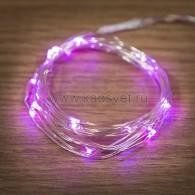 303-007 Роса 2м 20 LED розовые (2*CR2032 в комплекте), не соединяется
