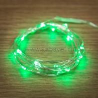 303-008 Роса 2м 20 LED зеленые (2*CR2032 в комплекте), не соединяется