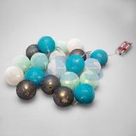 303-086 Тайские фонарики «Северное сияние» 3,5 м, прозрачный ПВХ, 20 LED, теплый белый, питание 2 х АА
