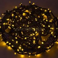 303-321 ТВИНКЛ 20м, черный КАУЧУК, 240 LED Желтые, не соединяется