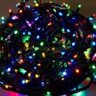303-329 ТВИНКЛ 20м, черный КАУЧУК, 240 LED МУЛЬТИ, не соединяется