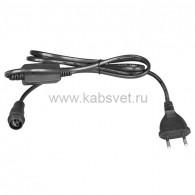 303-500 Комплект подключения для гирлянд с эффектом мерцания/постоянного свечения 230В/4А, цвет провода: черный, IP65
