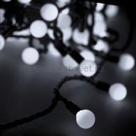 303-515 Мультишарики Ø23 мм 10м 80 LED Белые, черный ПВХ, соединяется