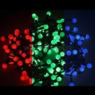 303-519 Мультишарики Ø23 мм 10м 80 LED RGB, черный ПВХ, соединяется