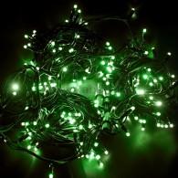 315-154 ДЮРАПЛЕЙ 20м (4 модуля x 5м), черный КАУЧУК, 200 (50x4) LED Зеленые, соединяется