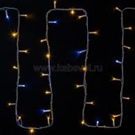 315-181 ДЮРАПЛЕЙ flashing (каждый 5-ый) 20м (4 модуля x 5м), белый КАУЧУК, 200 (50x4) LED Желтые, соединяется