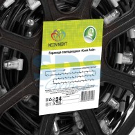325-156 Клип-лайт 12 В, 100 м,прозрачный ПВХ, шаг 150 мм, 665 LED теплый белый, с трансформатором
