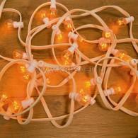 331-301 LED Galaxy Bulb String 10м, белый КАУЧУК, 30 ламп*6 LED ЖЕЛТЫЕ