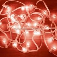 331-302 LED Galaxy Bulb String 10м, белый КАУЧУК, 25 ламп*6 LED КРАСНЫЕ