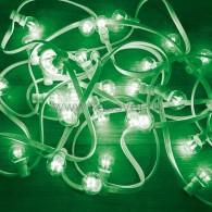 331-304 LED Galaxy Bulb String 10м, белый КАУЧУК, 30 ламп*6 LED ЗЕЛЕНЫЕ