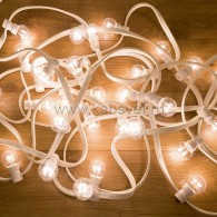 331-305 LED Galaxy Bulb String 10м, белый КАУЧУК, 30 ламп*6 LED БЕЛЫЕ