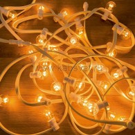 331-306 LED Galaxy Bulb String 10м, белый КАУЧУК, 30 ламп*6 LED ТЕПЛЫЙ БЕЛЫЙ