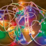 331-309 LED Galaxy Bulb String 10м, белый КАУЧУК, 30 ламп*6 LED МУЛЬТИ